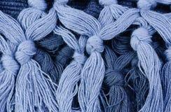 blå makrotråd Fotografering för Bildbyråer