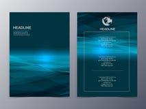 Blå mall för reklamblad för beståndsdel för grafisk design för teknologi