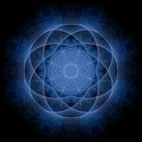 blå mandala Royaltyfri Fotografi