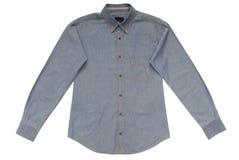Blå manlig skjorta royaltyfri foto