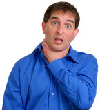 blå manskjorta för klänning 13 Royaltyfria Bilder