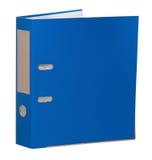 Blå mapp Arkivbild
