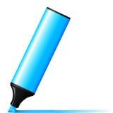 blå markör stock illustrationer