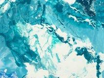 blå marmortextur Royaltyfri Bild