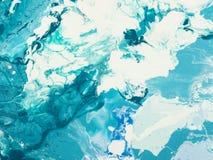 blå marmortextur Arkivfoton