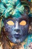 blå maskering venice Arkivfoton
