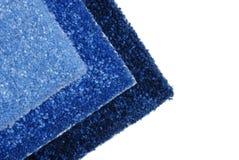 blå matta samples kupor Royaltyfri Bild