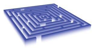 blå mazerektangel Arkivbilder