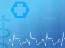 Blå medicinsk bakgrund royaltyfri illustrationer