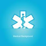 Blå medicinsk bakgrund Royaltyfri Foto