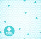 Blå medicinsk modell stock illustrationer