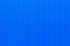 Blå metall korrugerat ark arkivfoto