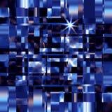 Blå metall kvadrerar illustrationen för bakgrundskonstruktionsvektorn vektor illustrationer