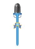 blå mic Arkivbild
