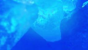 blå mineral stock video