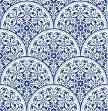 Blå modell för porslin stock illustrationer