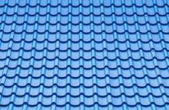 Blå modell för taktegelplatta royaltyfri fotografi
