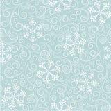 Blå modell med snöflingor Royaltyfria Bilder