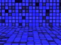 Blå modell som göras ut ur ljusa kuber Arkivfoton