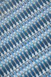 blå modellwhite arkivbilder