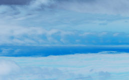 Blå molnig Sky Arkivbilder
