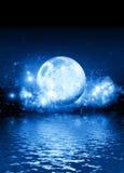 blå moon Arkivfoto