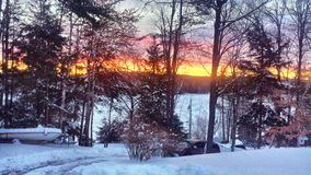 Blå morgon Arkivbilder