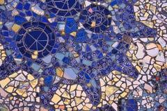 Blå mosaik Arkivbilder