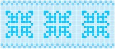 Blå mosaik Arkivfoto