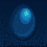 Blå mosaik för ägg Royaltyfri Illustrationer