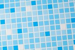 Blå mosaikbakgrund Royaltyfri Fotografi