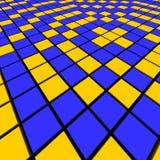 blå mosaikorange vektor illustrationer