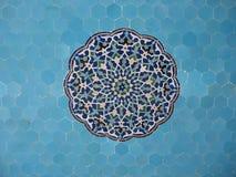 blå mosaique Arkivbilder