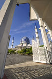 blå moské Royaltyfri Foto
