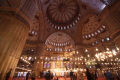 blå moské fotografering för bildbyråer