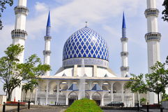 blå moské Royaltyfri Fotografi