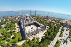 blå moské Arkivfoto