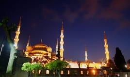 blå moské Royaltyfria Bilder