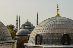 blå moské arkivbilder