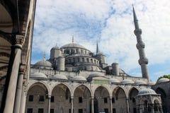 blå moské Arkivfoton
