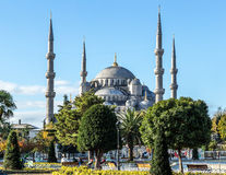 Blå moské - den Sultan Ahmed moskén - historia av Istanbul Royaltyfria Foton