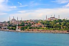 Blå moské, Hagia Sophia och Istanbul Arkivfoton