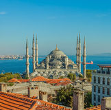 Blå moské i Istanbul royaltyfria foton