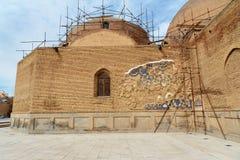 Blå moské i Tabriz Östligt Azerbajdzjan landskap iran royaltyfri foto