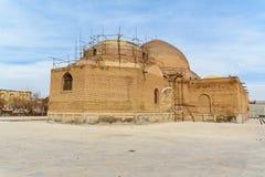 Blå moské i Tabriz Östligt Azerbajdzjan landskap iran fotografering för bildbyråer