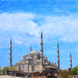 blå moské Istanbul skissar serie Arkivfoton