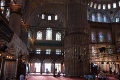 blå moskébön Arkivbild