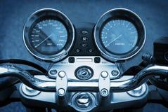 blå motorbikemotorcykel för bakgrund Royaltyfria Bilder