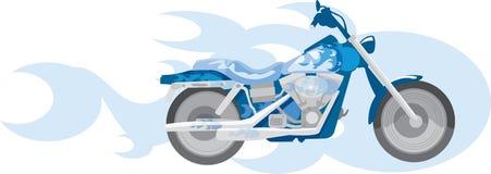 blå motorcykel Royaltyfria Foton