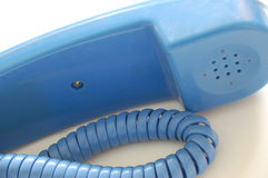 blå mottagare arkivfoto